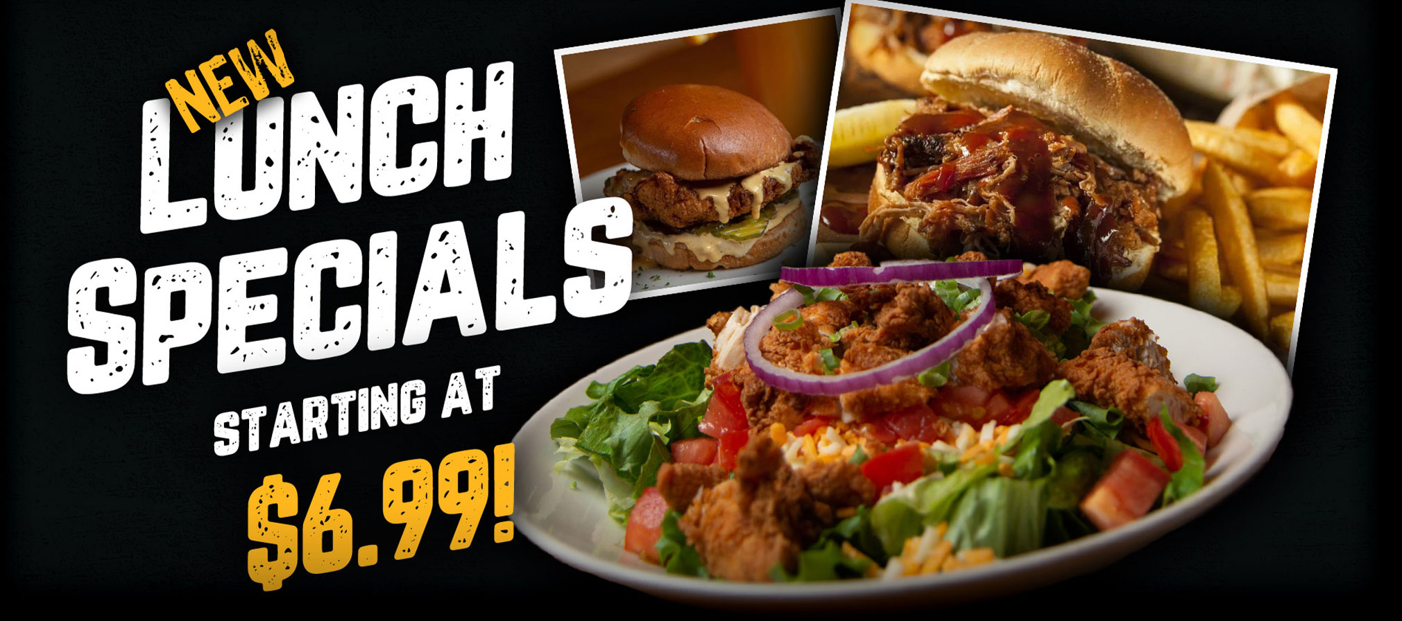 New Lunch Specials Starting at $6.99!